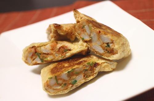 今日のキムチ料理レシピ:里芋のピリ辛包み焼き
