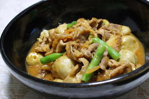 今日のキムチ料理レシピ:里芋とキムチの炒め煮