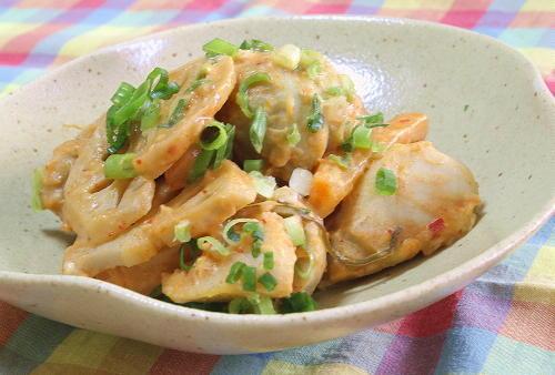 里芋と大根キムチの和風マヨ和えレシピ