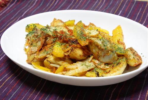 今日のキムチ料理レシピ:里芋とキムチのガリバタ炒め