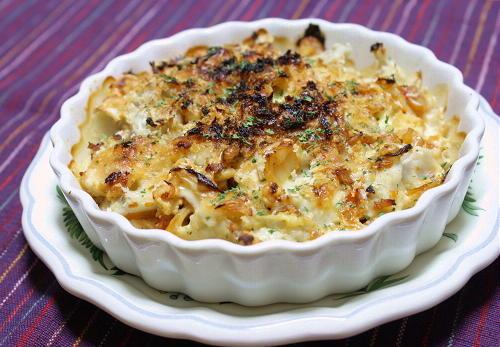 今日のキムチ料理レシピ:里芋とキムチのグラタン