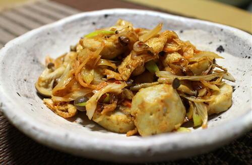 今日のキムチ料理レシピ:里芋のキムチ味噌炒め