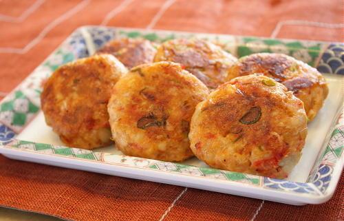 今日のキムチ料理レシピ:里芋と割干しキムチのお焼き