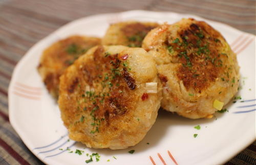 今日のキムチ料理レシピ:里芋とキムチのお焼き