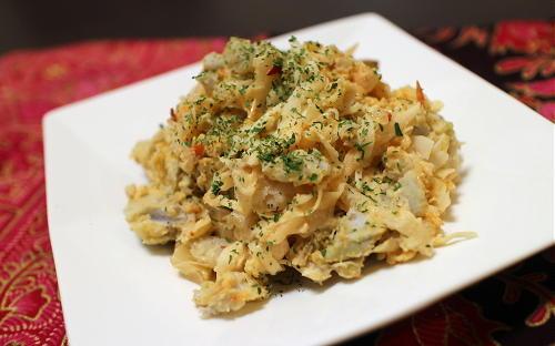 今日のキムチレシピ: 里芋とキムチのポテトサラダ
