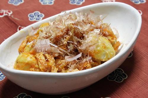 今日のキムチ料理レシピ:里芋の梅キムチ煮
