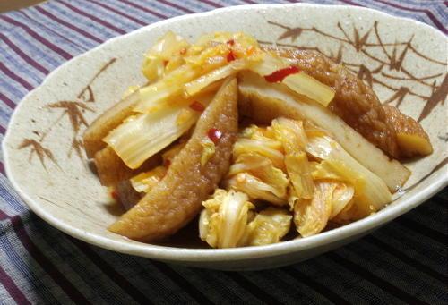 今日のキムチ料理レシピ:白菜とさつま揚げのピリ辛煮