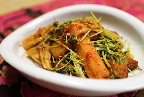 さつま揚げと大根キムチのマヨ炒めレシピ