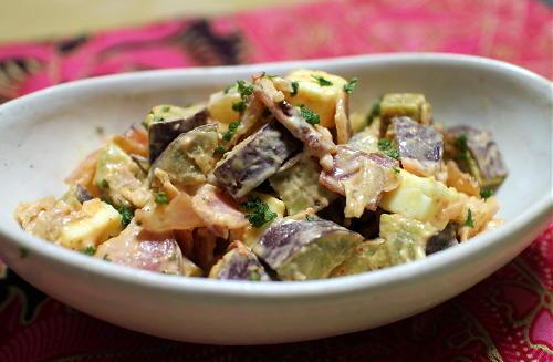 今日のキムチレシピ:サツマイモとキムチのサラダ