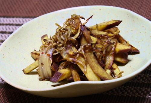 今日のキムチレシピ:さつまいもとキムチのじゃこ炒め