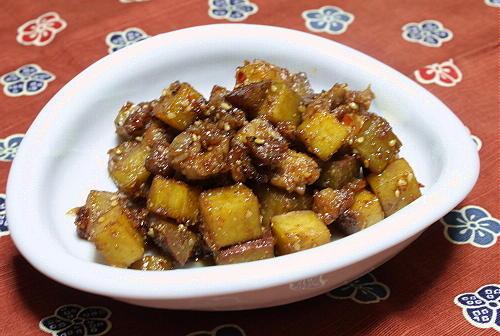 今日のキムチ料理レシピ:さつまいもの甘辛きんぴら