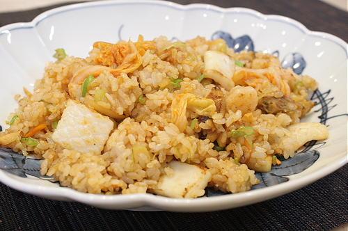 今日のキムチ料理レシピ:シーフードキムチチャーハン