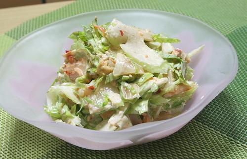 今日のキムチ料理レシピ:セロリとキムチのごま酢和え