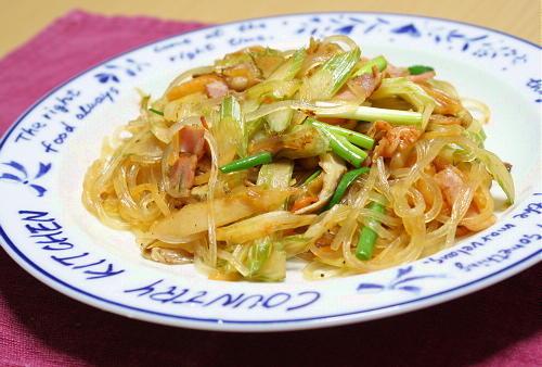 今日のキムチ料理レシピ:セロリキムチ春雨