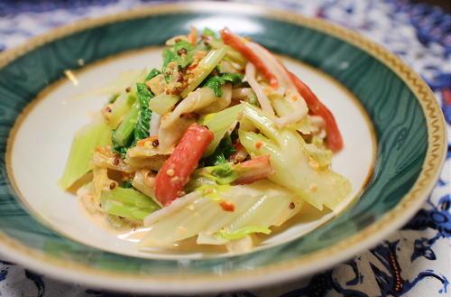 今日のキムチ料理レシピ:セロリのキムチマヨサラダ