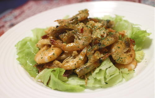今日のキムチ料理レシピ:芝えびのキムチキムチラッキョウ和え