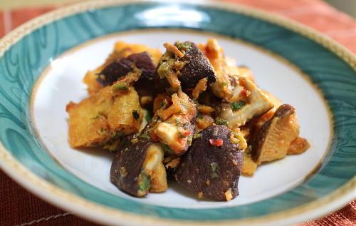 今日のキムチ料理レシピ:シイタケと油揚げのピリ辛みそ炒め