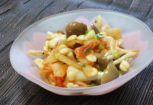 今日のキムチ料理レシピ:シメジのキムチ和え