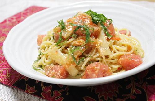 今日のキムチ料理レシピ:塩麹キムチパスタ