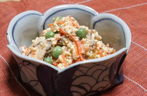 今日のキムチ料理レシピ:キムチ白和え