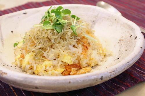 今日のキムチ料理レシピ:しらすキムチチャーハン