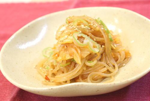 今日のキムチ料理レシピ:しらたきのキムチ炒め