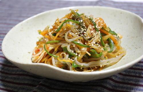 今日のキムチ料理レシピ: しらたきとキムチのきんぴら