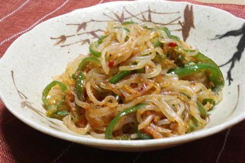 今日のキムチ料理レシピ:しらたきのピリ辛きんぴら