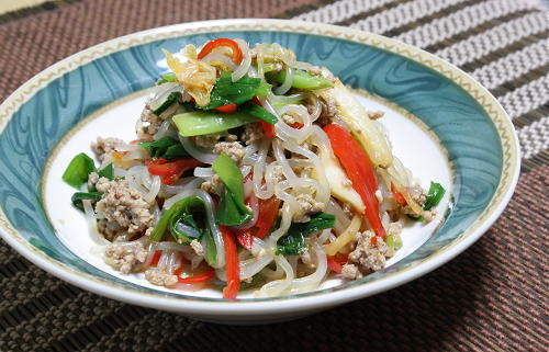 今日のキムチ料理レシピ:しらたきとキムチのプルコギ風