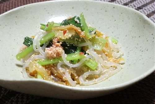今日のキムチ料理レシピ:しらたきのたらこキムチ炒め