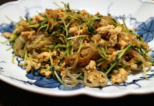 今日のキムチレシピ:しらたきの鶏ひきキムチ炒め