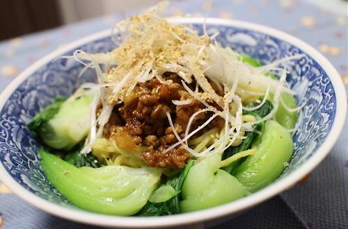 今日のキムチ料理レシピ:汁なしキムチ担々麺