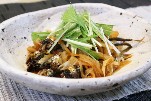 今日のキムチ料理レシピ:ししゃものキムチ南蛮漬け
