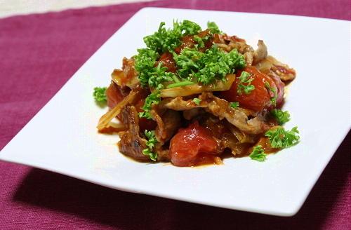 今日のキムチ料理レシピ:シシリアンルージュと豚肉のキムチ炒め