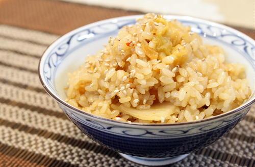 今日のキムチ料理レシピ:生姜キムチごはん