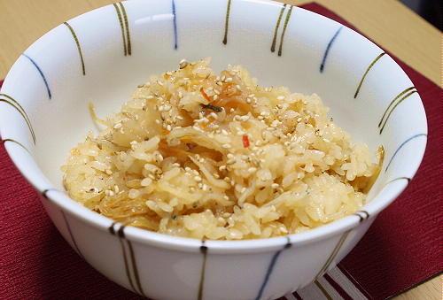 今日のキムチ料理レシピ:生姜キムチおこわ
