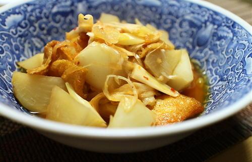 今日のキムチ料理レシピ:聖護院大根のピリ辛煮
