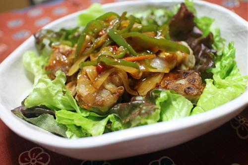 今日のキムチレシピ:揚げシューマイのキムチあんかけ