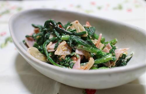 今日のキムチレシピ:春菊とキムチのマヨ和え