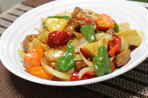 今日のキムチ料理レシピ:キムチ入り酢豚