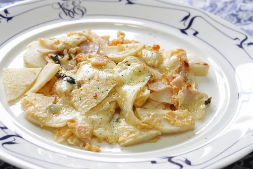 今日のキムチ料理レシピ:たけのことキムチのチーズ焼き