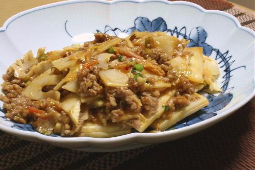竹の子のピリ辛ひき肉炒めレシピ