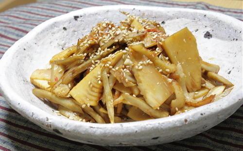 今日のキムチ料理レシピ:たけのことキムチ入りきんぴらごぼう