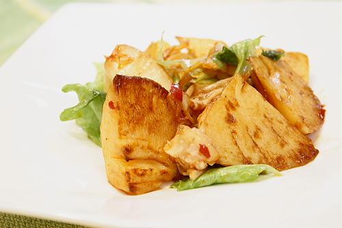 今日のキムチ料理レシピ:たけのことキムチのオイスター炒め