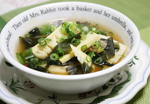 今日のキムチ料理レシピ:たけのこキムチスープ