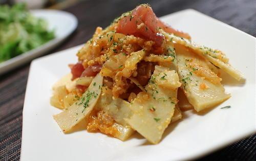 今日のキムチ料理レシピ:たけのこのキムチサラダ