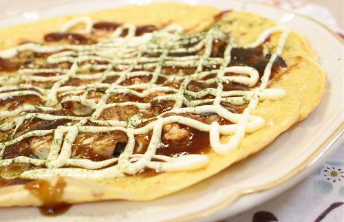 今日のキムチ料理レシピ:たことキムチのお好み焼き