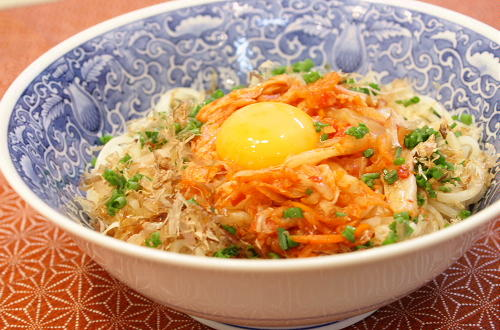 今日のキムチ料理レシピ:キムチ卵素麺