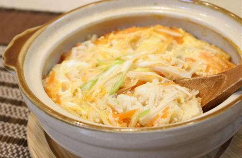 今日のキムチ料理レシピ:キムチ雑炊