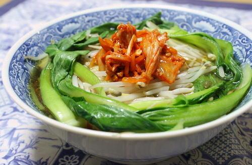 今日のキムチ料理レシピ:キムチ担々ラーメン